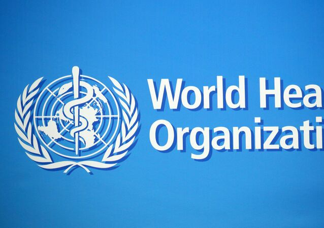 A logo is pictured at the World Health Organization (WHO) building in Geneva, Switzerland, February 2, 2020. Picture taken February 2, 2020.