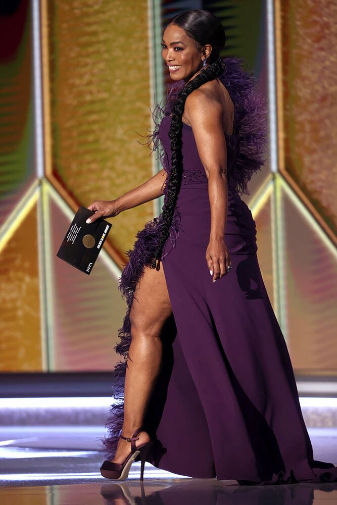 Actress Angela Bassett is seen in this handout photo from the 78th Annual Golden Globe Awards in Beverly Hills, California, 28 February 2021.