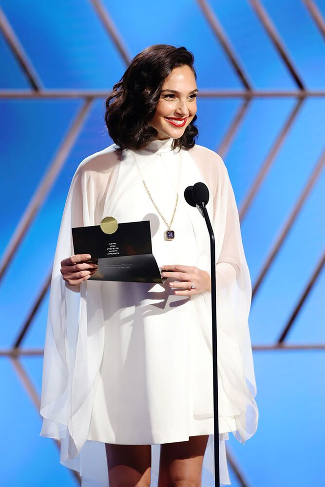 Gal Gadot in a handout photo from the 78th Annual Golden Globe Awards in Beverly Hills, California, 28 February 2021.