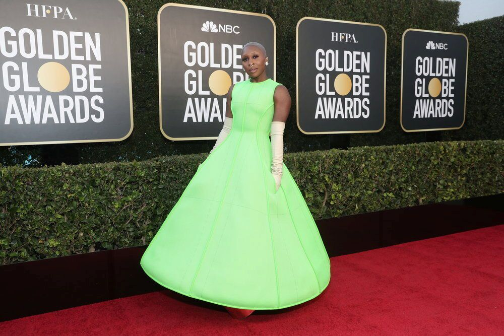 Actress Cynthia Erivo poses in a handout photo from the 78th Annual Golden Globe Awards in Beverly Hills, California, 28 February 2021.