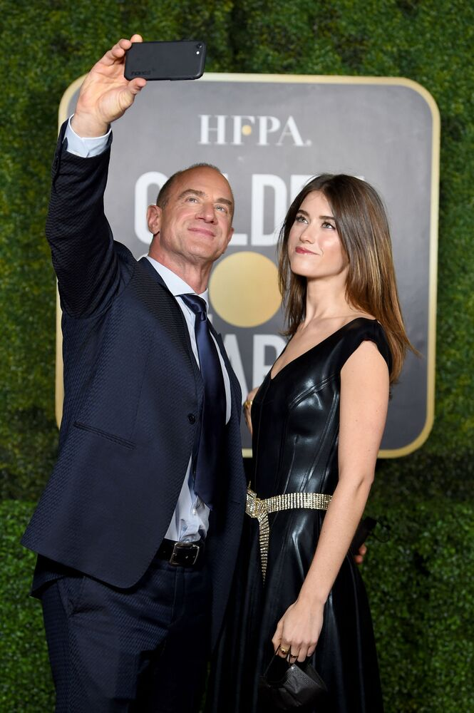 Christopher Meloni and daughter Sophia Meloni attend the 78th Annual Golden Globe Awards at The Rainbow Room on 28 February 2021 in New York City.