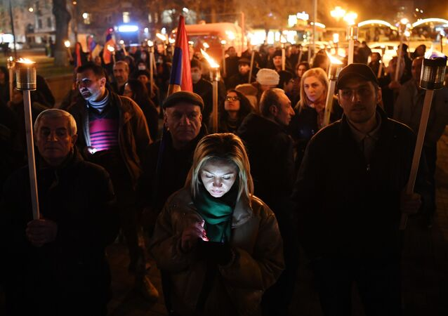 Opposition rallies in Yerevan