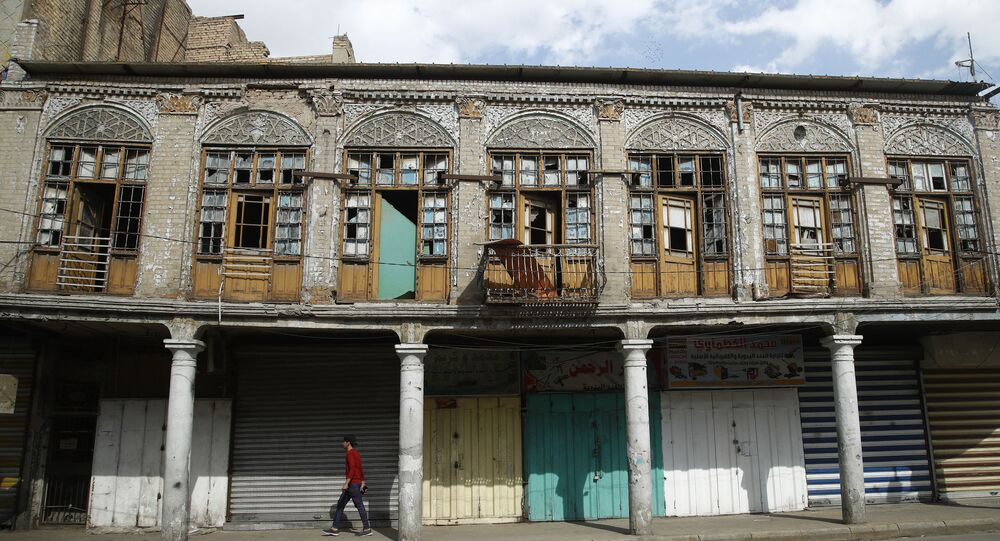 Shops are closed during a curfew to help prevent the spread of the Coronavirus, in the main Shurja market in central Baghdad, Iraq, Friday, Feb. 19, 2021.