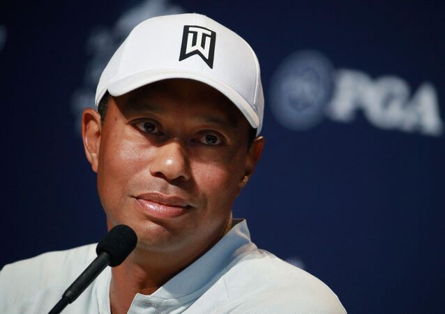 In this file photo Tiger Woods of the United States speaks to the media during a press conference before the 2018 PGA Championship at Bellerive Country Club on 7 August 2018 in St Louis, Missouri. - Tiger Woods is not facing charges of reckless driving after the car crash in which he suffered serious leg injuries, authorities said on 24 February 2021. A reckless driving charge has a lot of elements in it, this is purely an accident, Los Angeles County Sheriff Alex Villanueva told reporters.