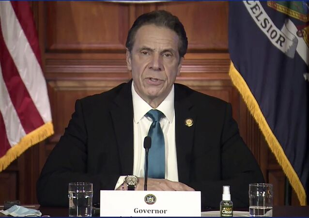 In this image taken from video, New York Gov. Andrew Cuomo speaks during a news conference Friday, Feb. 19, 2021, in Albany, N.Y.