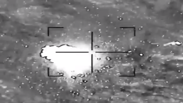 Saudi coalition downs Houthi drone. - Sputnik International