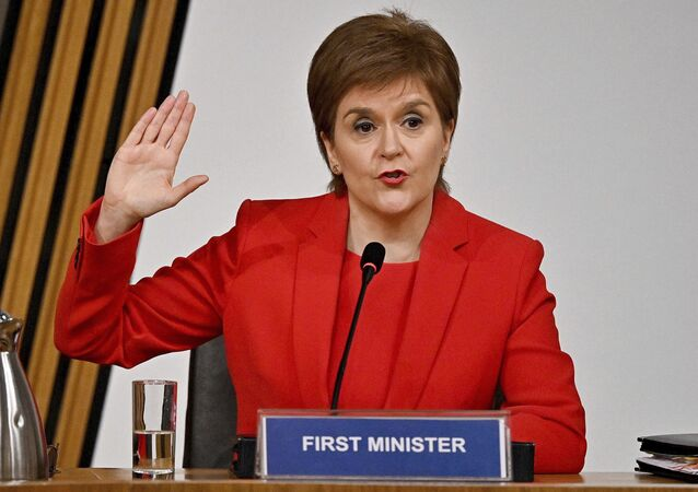 Nicola Sturgeon gives evidence to a Scottish Parliament committee on 3 March 2021