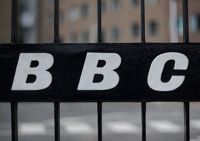 A view of a BBC logo on a gate near the entrance to the BBC Television offices in west London, on 6 October 2011.
