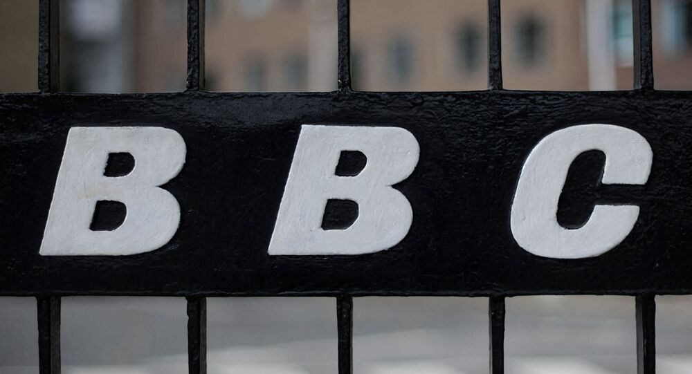 A view of a BBC logo on a gate near the entrance to the BBC Television offices in west London, on October 6, 2011.