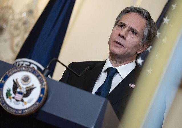 US Secretary of State Antony Blinken delivers remarks about priorities for administration of US President Joe Biden in the Ben Franklin room at the State Department in Washington, DC on March 3, 2021.