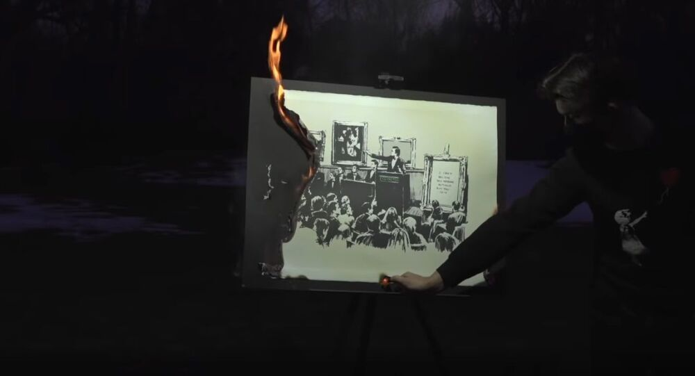 Authentic Banksy Art Burning Ceremony (NFT)