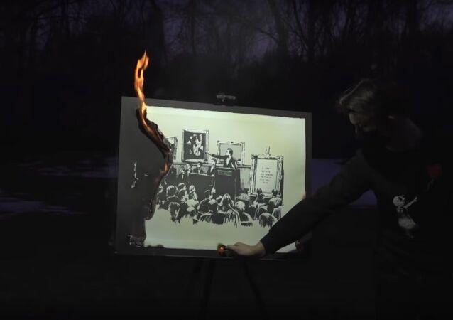 Authentic Banksy Art Burning Ceremony (NFT)