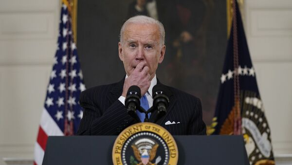 President Joe Biden speaks about efforts to combat COVID-19, in the State Dining Room of the White House, Tuesday, March 2, 2021, in Washington - Sputnik International
