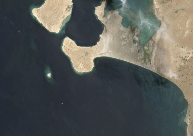 This handout satellite image obtained courtesy of  Maxar Technologies on July 19, 2020 shows an overview of the FSO Safer oil tanker on June 19, 2020 off the port of Ras Isa.