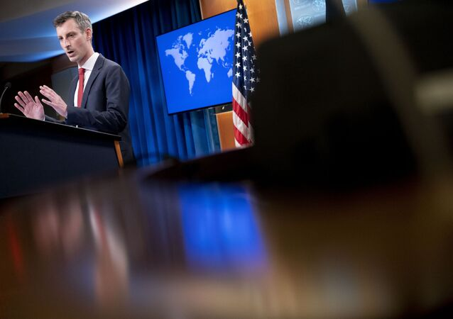 State Department spokesman Ned Price speaks during a news conference at the State Department in Washington, Tuesday, Feb. 16, 2021.