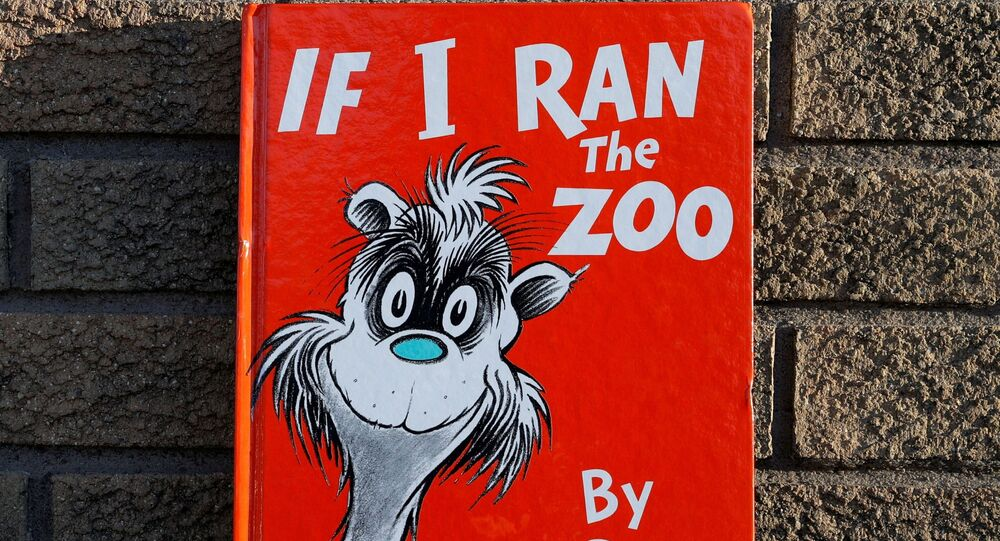 Photo illustration of the children's book If I Ran The Zoo by author Dr. Seuss