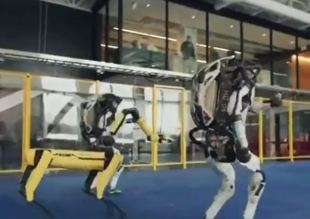 A video clip of three robots – two resembling humans and one designed like a dog – having a good time went viral on social media on Friday in India