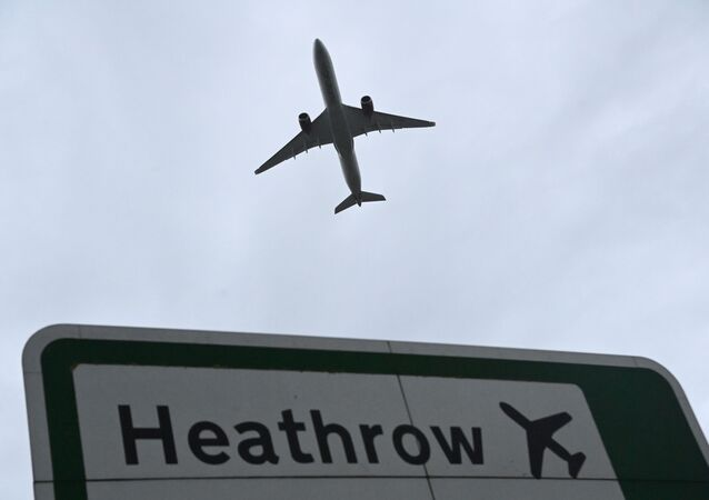 An aircraft takes off at Heathrow Airport amid the spread of the coronavirus disease (COVID-19) pandemic in London, Britain, 4 February 2021.