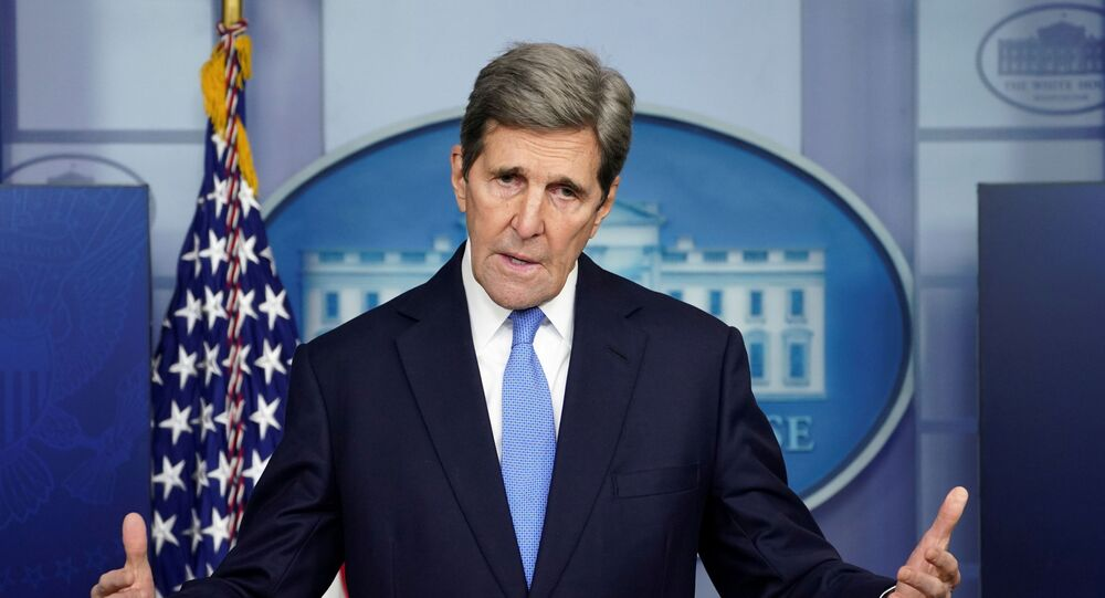 U.S. climate envoy John Kerry speaks at a press briefing at the White House in Washington, U.S., January 27, 2021.
