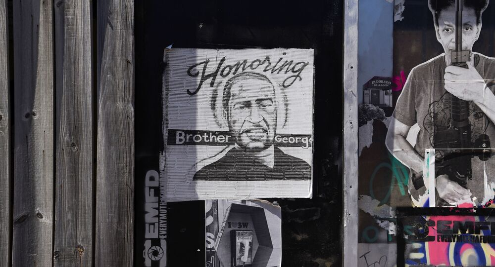 A mural honoring George Floyd is seen in the Third Ward ahead of the trial of the former Minneapolis cop Derek Chauvin in Houston, Texas, U.S., March 3, 2021.