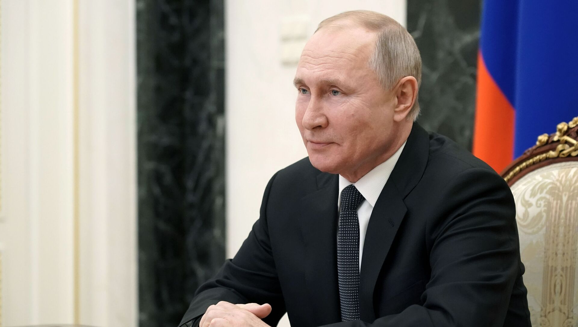 February 26, 2021. Russian President Vladimir Putin is holding an operational meeting with permanent members of the Russian Security Council via videoconference. - Sputnik International, 1920, 18.06.2021