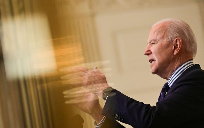 U.S. President Joe Biden makes remarks from the White House after his coronavirus pandemic relief legislation passed in the Senate, in Washington, U.S. March 6, 2021