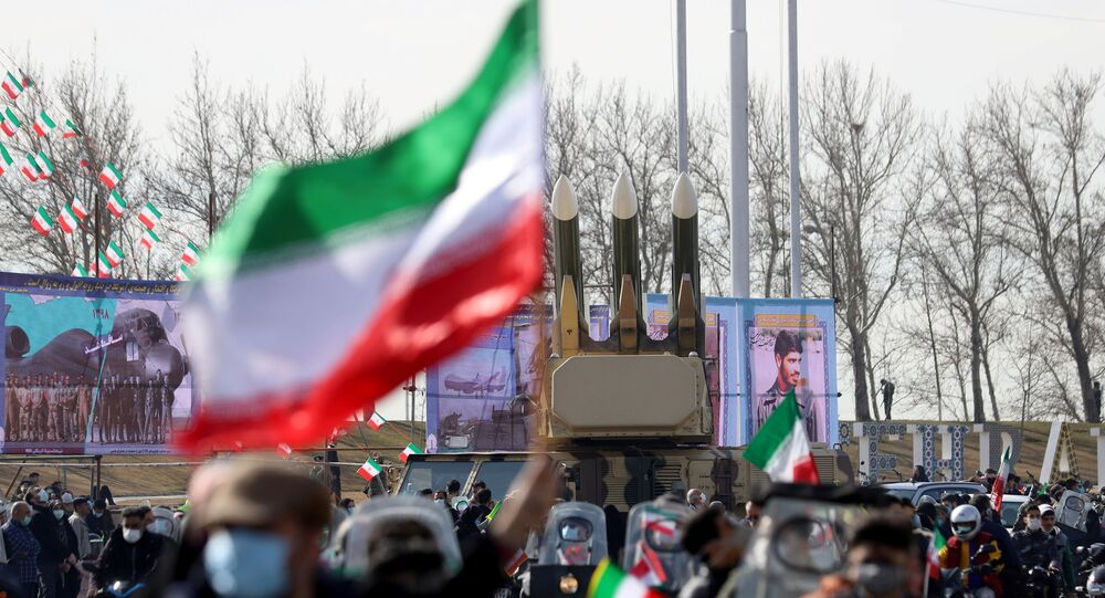 Missiles are seen during celebration of the 42nd anniversary of the Islamic Revolution in Tehran, Iran February 10, 2021. Majid Asgaripour/WANA (West Asia News Agency) via REUTERS