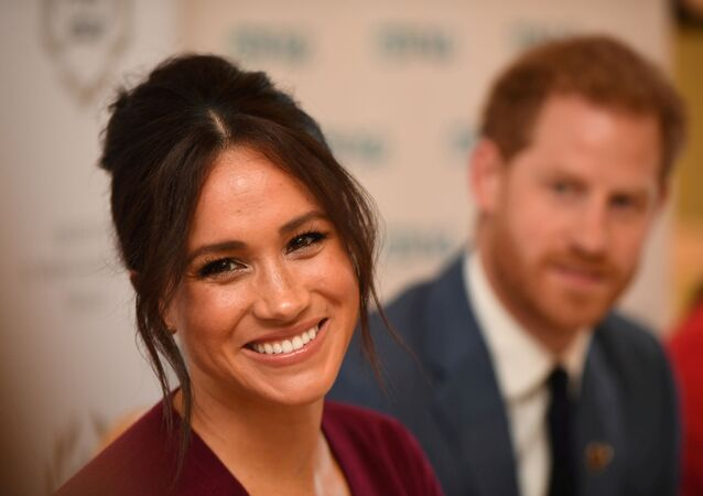 Britain's Meghan, the Duchess of Sussex, and Prince Harry, Duke of Sussex, attend a roundtable discussion on gender equality with The Queen's Commonwealth Trust (QCT) and One Young World at Windsor Castle, Windsor, Britain October 25, 2019