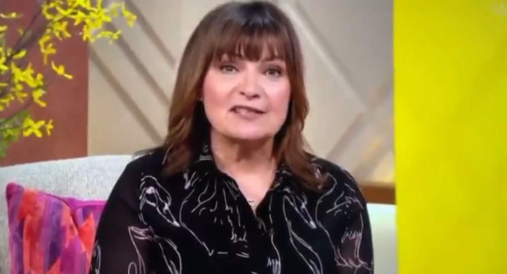 Screenshot from the video of morning TV show host Lorraine Kelly commenting on the Prince Harry and Meghan Markle interview