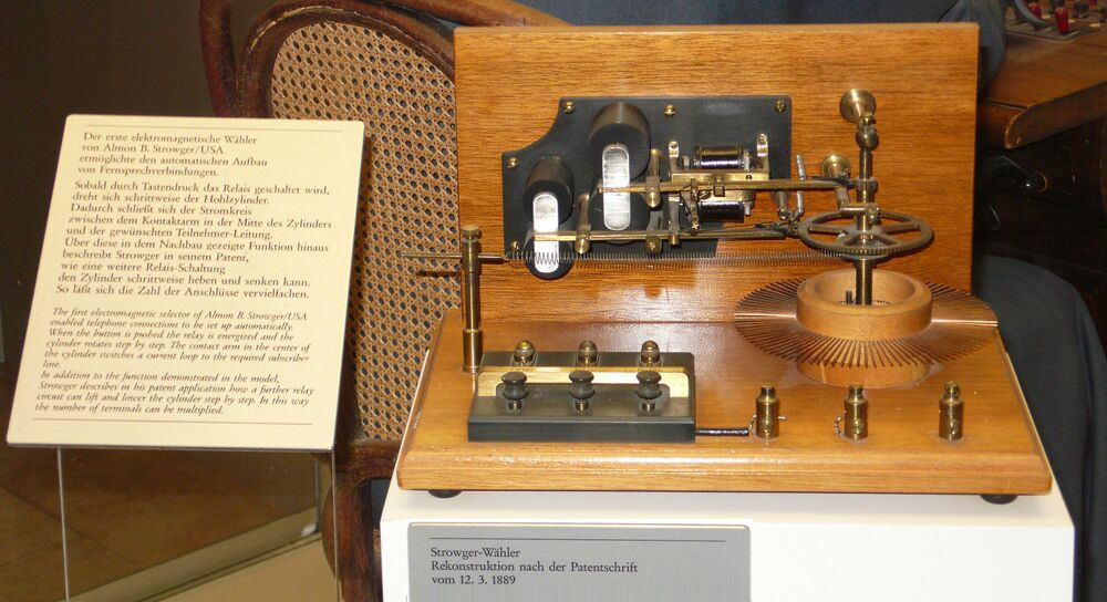 Almon B Strowger's first electromagnetic selector.