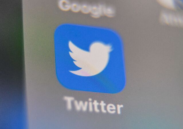 A picture taken on 4 September 2019 shows the logo of the US social networking site Twitter, displayed on the screen of a smart-phone screen, in Lille, northern France.