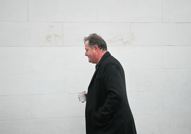 Journalist and television presenter Piers Morgan walks back to his house, after he left his high-profile breakfast slot with the broadcaster ITV, following his long-running criticism of Prince Harry's wife Meghan, in London, Britain, March 10, 2021. REUTERS/Toby Melville