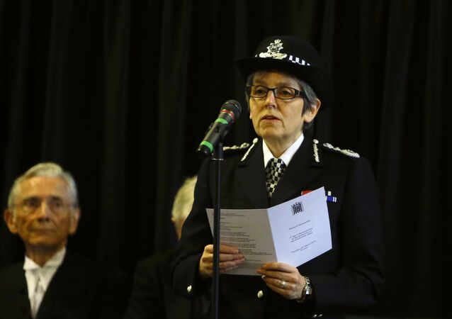 Cressida Dick The Metropolitan Police Commissioner reads the poem 'Time' by Henry Van Dyke, watched by The Lord Speaker Lord Fowler during a commemoration for the victims of the attack on Westminster and Parliament, at Westminster Hall inside the Palace of Westminster in London, Thursday, March 22, 2018. On March 22 2017 a knife-wielding man went on a deadly rampage, first driving a car into pedestrians then stabbing a police officer to death before being fatally shot by police within Parliament's grounds.