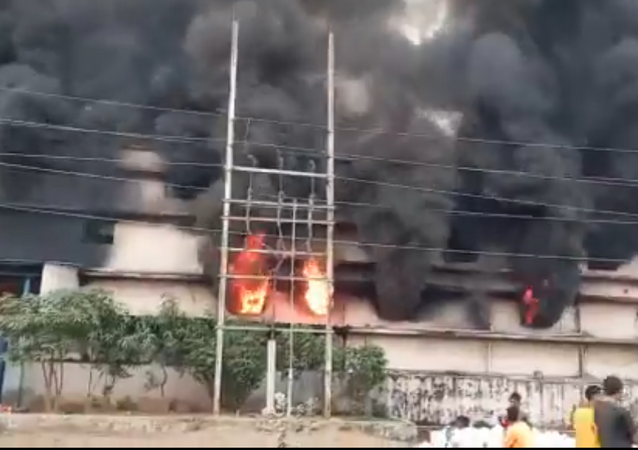 Fire breaks out at a chemical factory in the Maharashtra Industrial Development Corporation (MIDC) area of Ambernath, Thane
