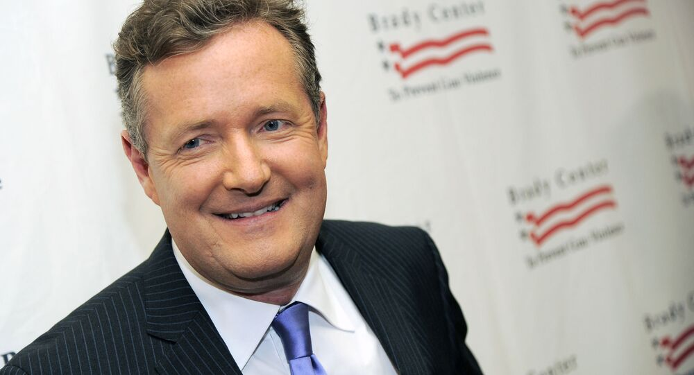 This May 7, 2013 file photo shows Piers Morgan at the Brady Campaign to Prevent Gun Violence Los Angeles Gala in Beverly Hills, Calif.