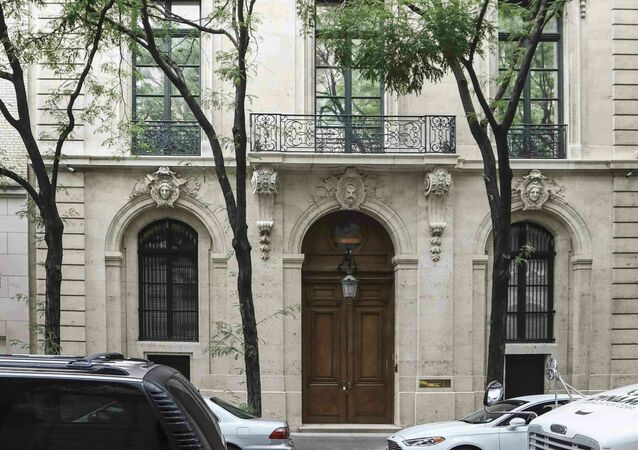 This photo shows the Manhattan residence of Jeffrey Epstein, Monday July 8, 2019, in New York