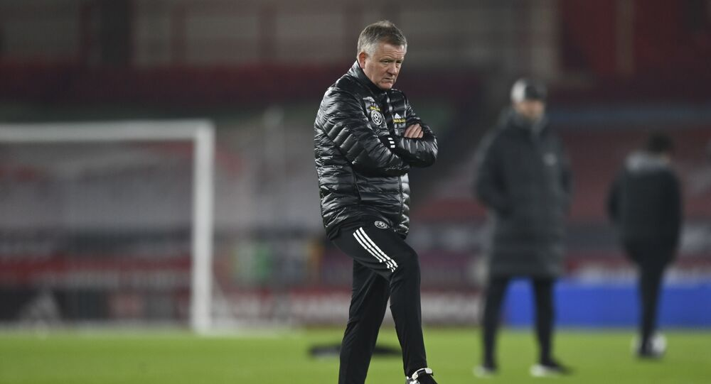 Sheffield United manager Chris Wilder, who was sacked on 12 March 2021