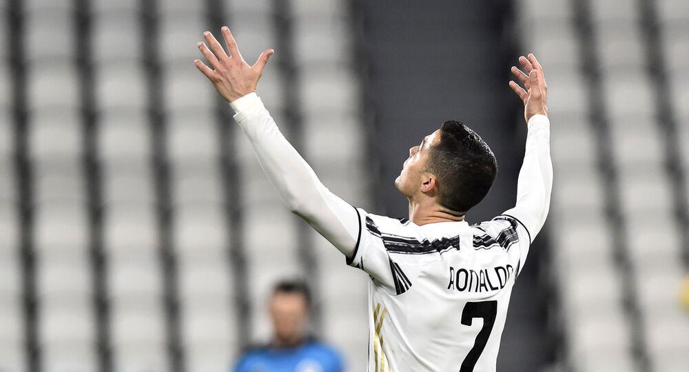 Soccer Football - Serie A - Juventus v Spezia - Allianz Stadium, Turin, Italy - March 2, 2021 Juventus' Cristiano Ronaldo reacts
