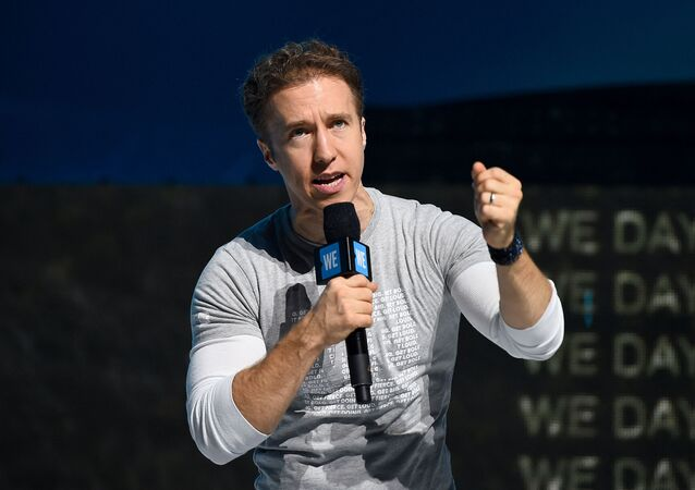 Craig Kielburger speaks onstage during WE Day UN 2019 at Barclays Center on September 25, 2019 in New York City.