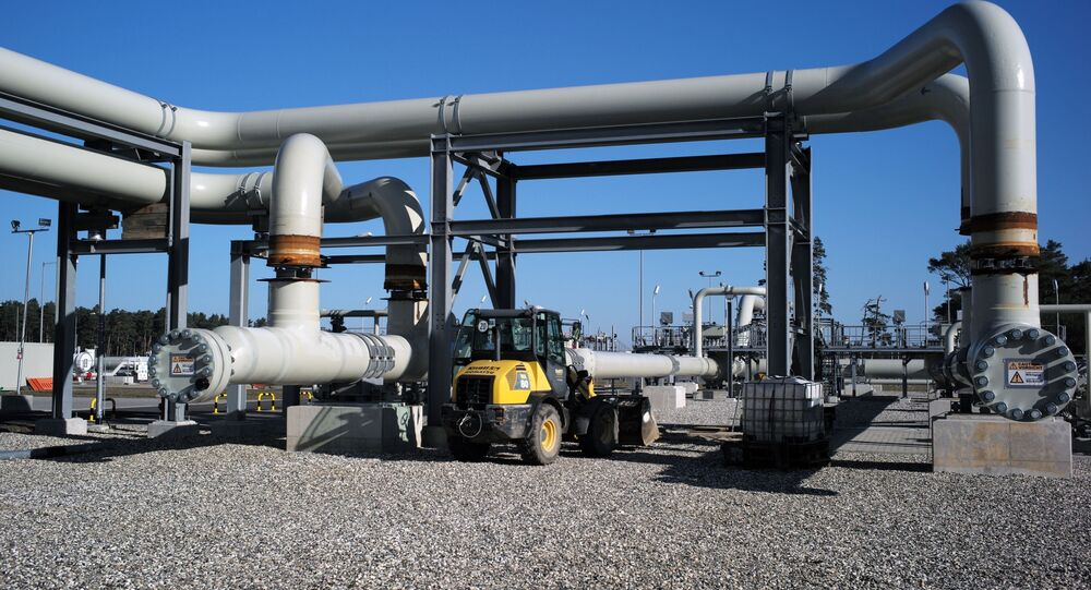 Construction of the Nord Stream-2 gas pipeline in Germany
