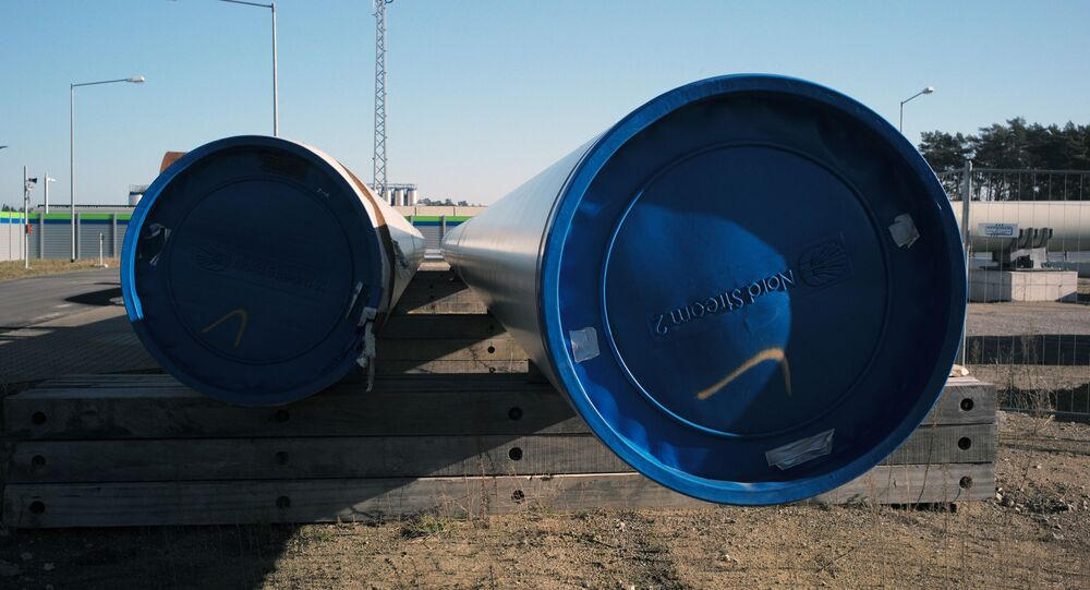 Construction of the Nord Stream 2 gas pipeline in Germany