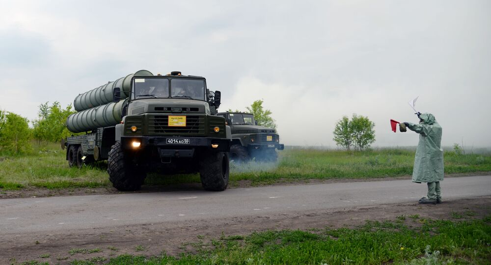 S-300 air defence system takes part in military exercises in Russia