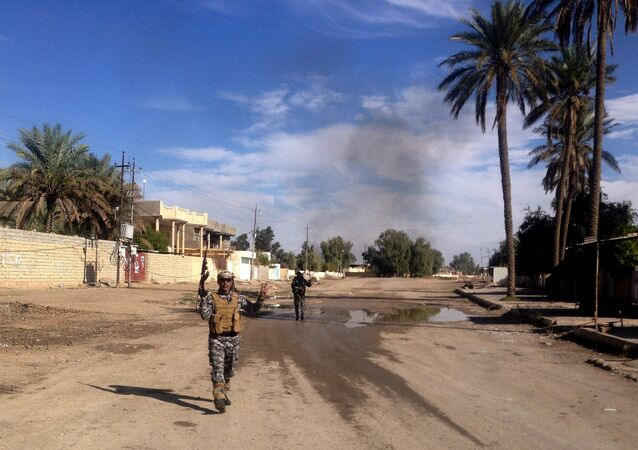 Iraqi security forces are deployed during a military operation to regain control of the town of Sadiyah, 60 miles (95 kilometers) north of Baghdad, Iraq in Diyala province, Iraq.