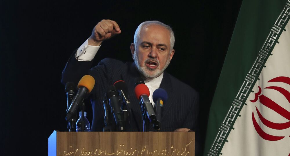 Iran's Foreign Minister Mohammad Javad Zarif addresses in a conference in Tehran, Iran, Tuesday, 23 February 2021