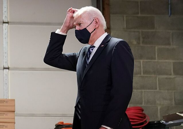 U.S. President Joe Biden speaks during a Help is Here Tour event to highlight the $1.9 trillion American Rescue Plan Act coronavirus disease (COVID-19) aid law, as he visits Smith Flooring in Chester, Pennsylvania, U.S., March 16, 2021.