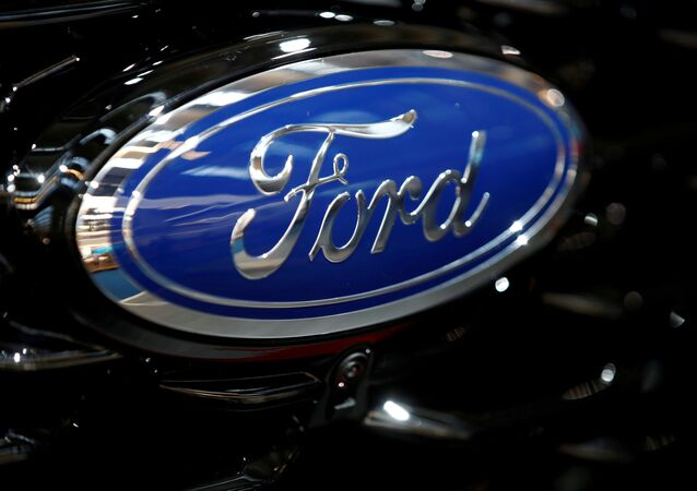 The Ford motor company badge