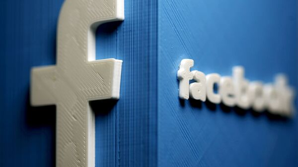 A 3D plastic representation of the Facebook logo is seen in this illustration in Zenica, Bosnia and Herzegovina, May 13, 2015. REUTERS/Dado Ruvic//File Photo/File Photo - Sputnik International
