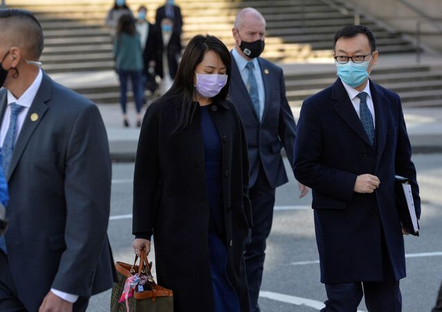 Huawei Technologies Chief Financial Officer Meng Wanzhou leaves court on a lunch break in Vancouver, British Columbia, Canada March 15, 2021.