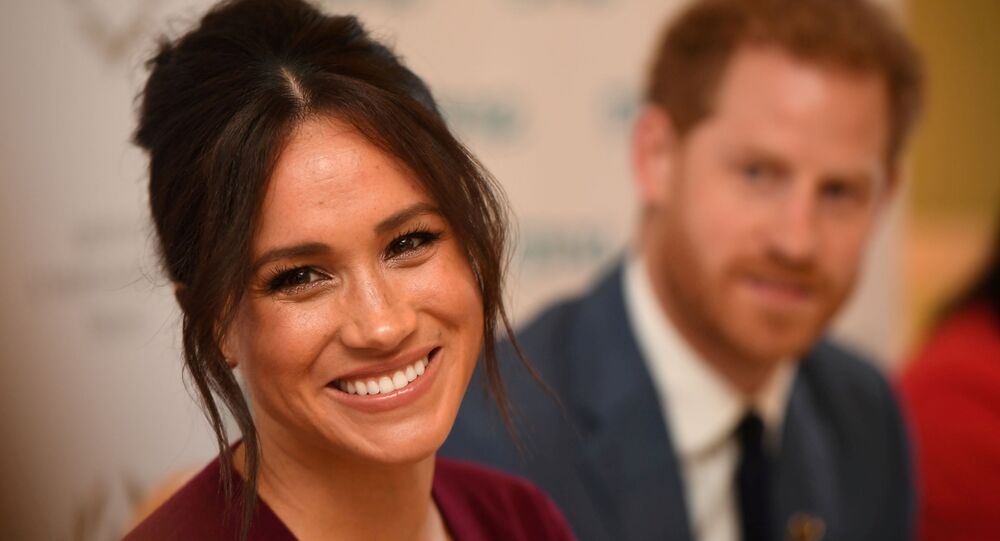 Britain's Meghan, the Duchess of Sussex, and Prince Harry, Duke of Sussex, attend a roundtable discussion on gender equality with The Queen's Commonwealth Trust (QCT) and One Young World at Windsor Castle, Windsor, Britain October 25, 2019.