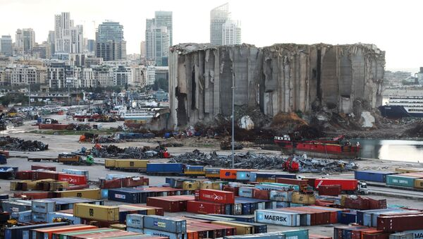 A view shows the site of the August 4 explosion at Beirut port, Lebanon February 18, 2021 - Sputnik International
